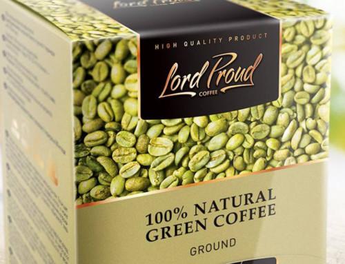 Дизайн упаковки для зеленого кофе от LordProud